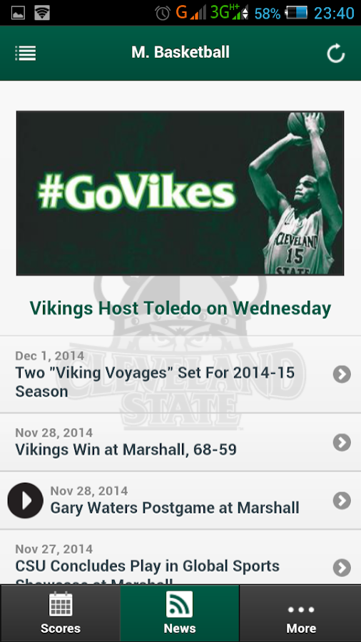 CSU Vikings Front Row- screenshot