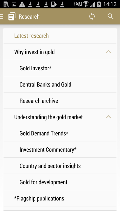 Gold Research- screenshot