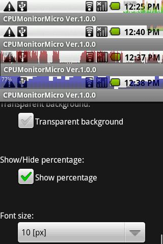 Screenshots for CPUMonitorMicro