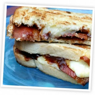 Barbecue Bacon Smoked Cheddar Grilled Cheese