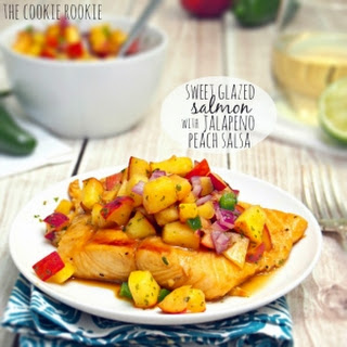 Sweet Glazed Salmon with Peach Salsa