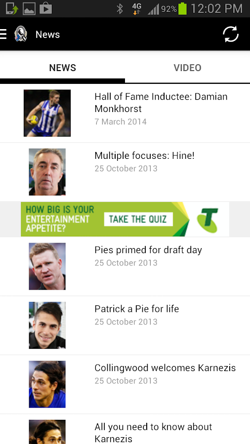 Collingwood Official App - screenshot