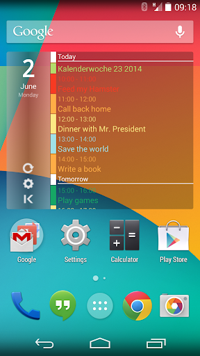 Calendar Widget Agenda Pro