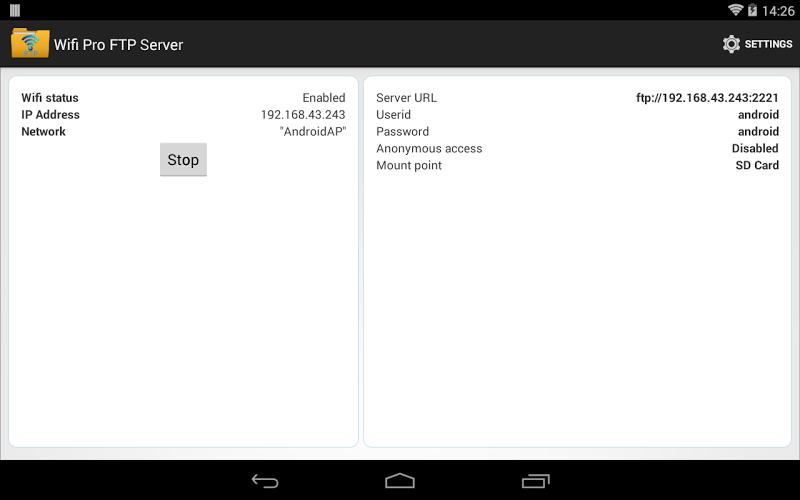 WiFi Pro FTP Server Screenshot 9