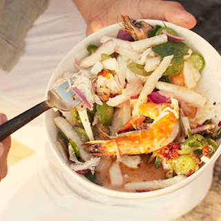 Shrimp, Lobster, and Jicama Salad