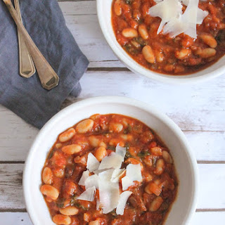 Tomato and White Bean Stew with Chicken Sausage