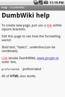 DumbWiki - screenshot thumbnail
