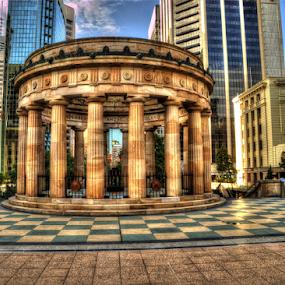 ANZAC Memorial Brisbane Australia by Peter Keast - Buildings & Architecture Public & Historical ( memorial, anzac, brisbane, war,  )