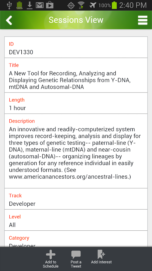 RootsTech14 - screenshot