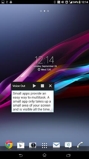 玩免費工具APP 下載Voice Out Small App app不用錢 硬是要APP