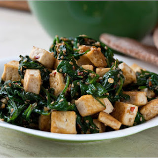 Spinach, Tofu and Sesame Stir-Fry.