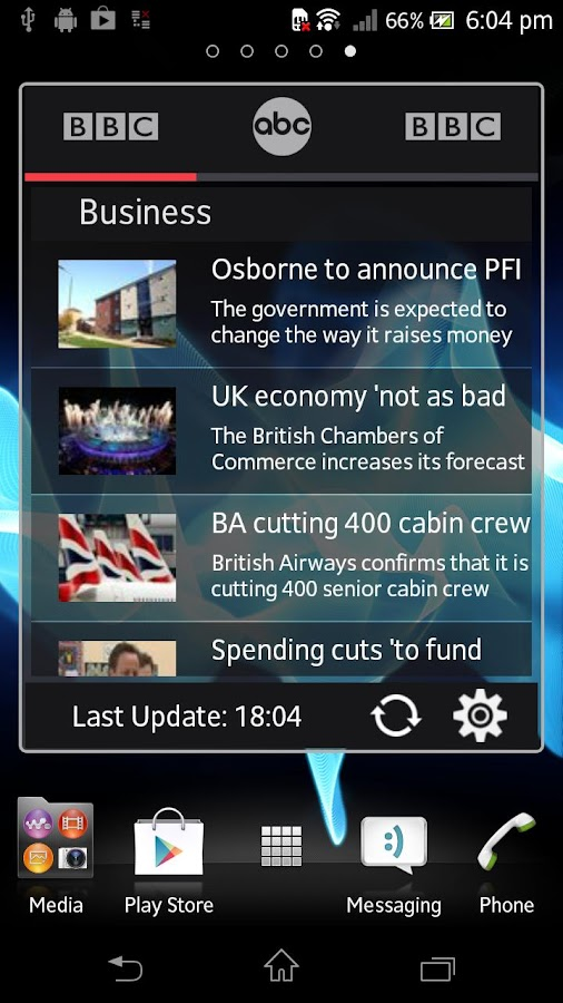 News Widget- screenshot