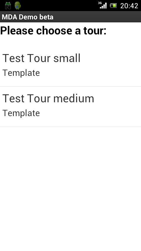 MDA Demo- screenshot