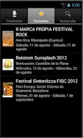 Screenshot of TheFestivals