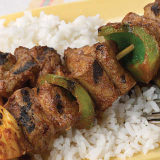 Curried Beef Kabobs.