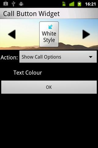 Call Button Widget - screenshot
