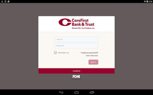 CoreFirst Bank & Trust Mobile - screenshot thumbnail