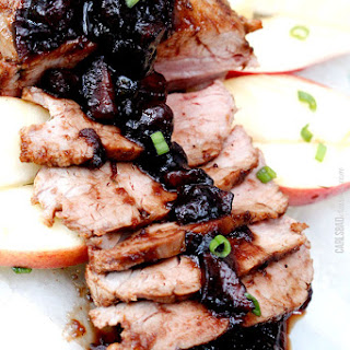 Cajun Pork Tenderloin with Easy Cranberry Apple Balsamic Reduction