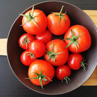 Ricotta and Pesto Stuffed Tomatoes.