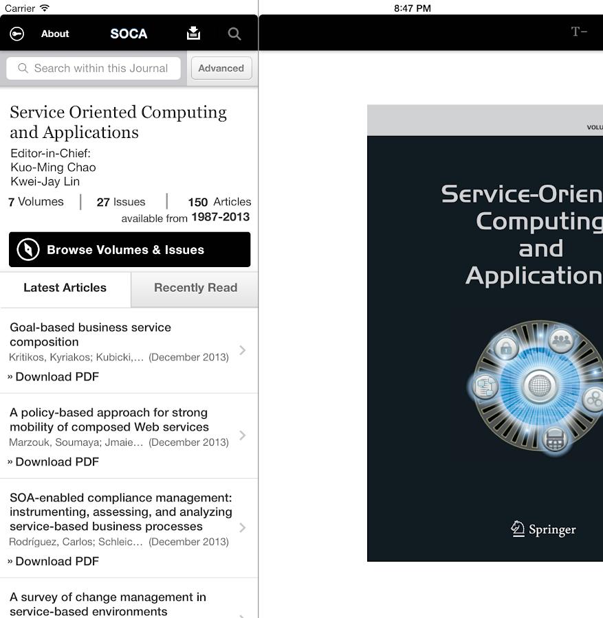 SOCA Journal - screenshot