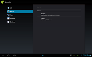 Screenshot of Update me Smartphone