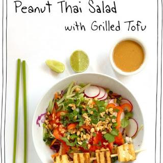 Peanut Thai Salad with Grilled Tofu