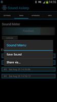Screenshot of Sound Asleep