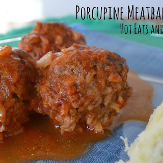 Ground Beef Porcupine Meatballs