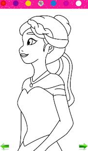 Frozen Princess Coloring
