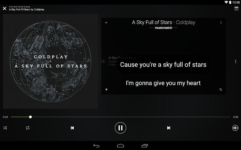 android Musixmatch Songtexte Screenshot 6