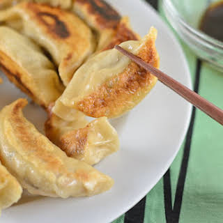 Homemade Pork and Vegetable Potstickers.
