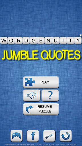 Wordgenuity® Jumble Quotes