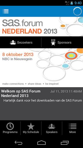 SAS Forum Nederland 2013
