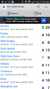 NYC Health Ratings - screenshot thumbnail