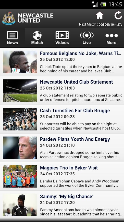 Official Newcastle - screenshot