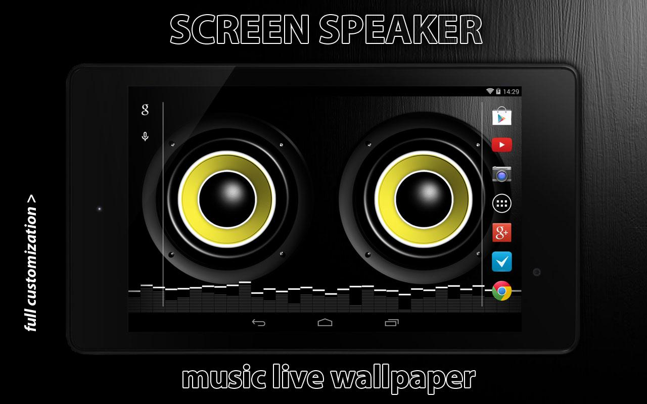 Screen Speaker Music Wallpaper - screenshot