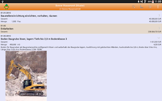 Screenshot of MWM-Piccolo - LV und Aufmaß