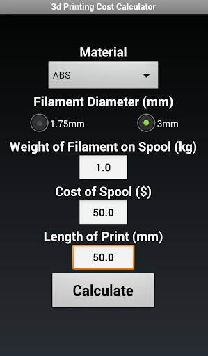 3d Print Cost Calculator Free