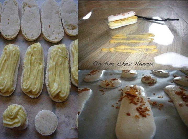 Vanilla Cream and Caramelized Apple Macaroons