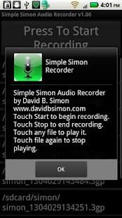 Simple Simon Voice Recorder- screenshot thumbnail