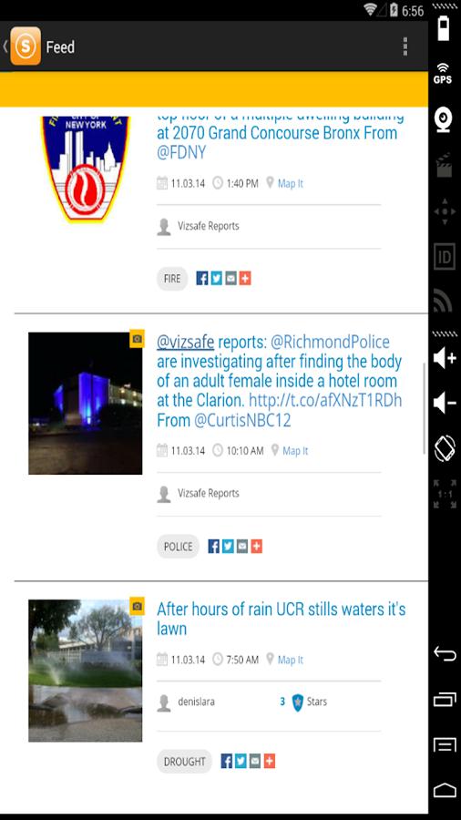 Vizsafe - screenshot