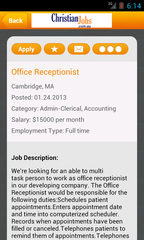 Christian Jobs Australia- screenshot