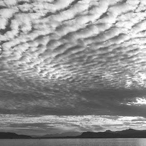 by Alessandro Bagnasco - Black & White Landscapes ( mountain, b&w, winter, black and white, sea, sunrise, landscape )