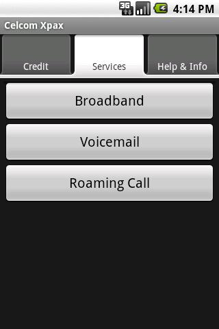 Celcom Xpax- screenshot