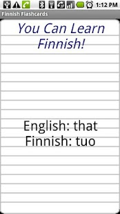 English to Filipino Flashcards- screenshot thumbnail