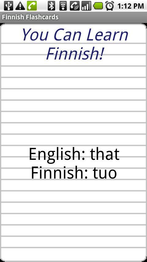 English to Filipino Flashcards- screenshot
