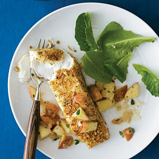 Hazelnut-Crusted Halibut with Apple Salsa