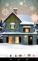 Screenshot of Christmas Card: Snowman Santa