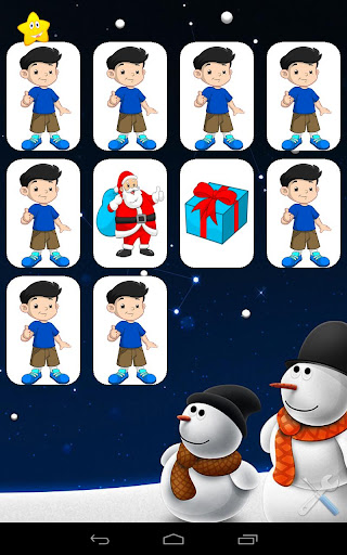 Christmas Kid Fun memory Game