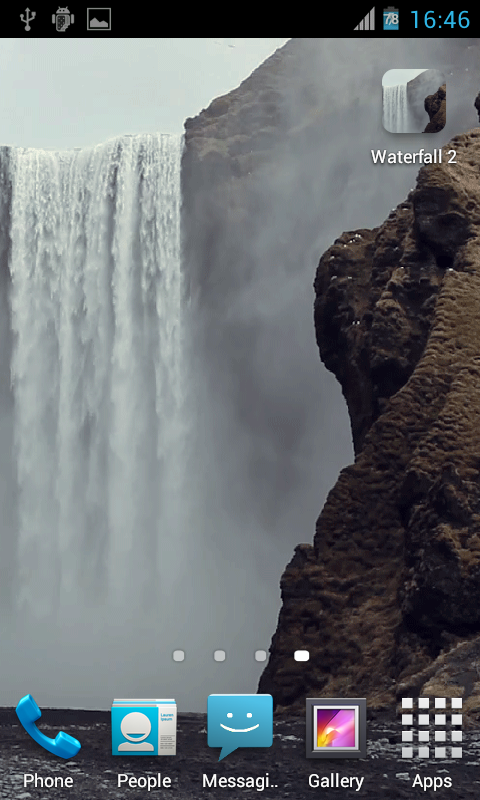 Waterfall2 LWP- screenshot